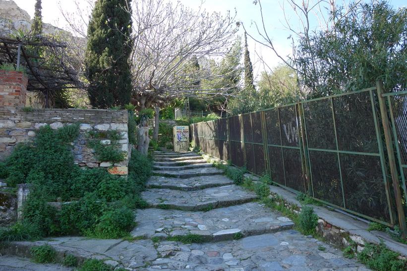 På väg upp till Akropolis, Aten.