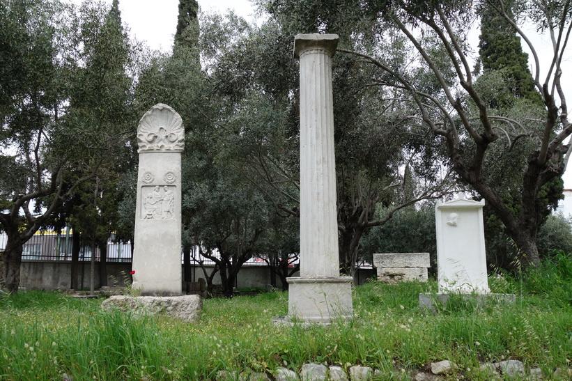 Gravstenar i Kerameikos, Aten.