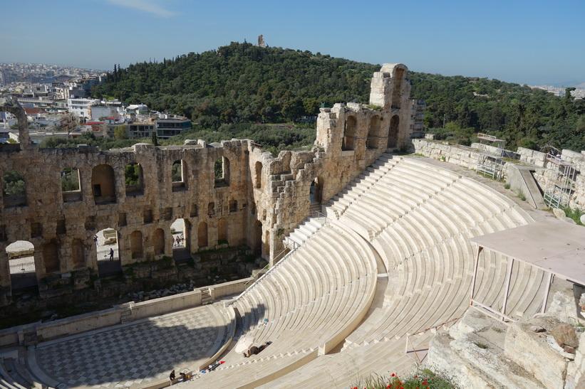 Herodes Atticus teater, Akropolis, Aten.