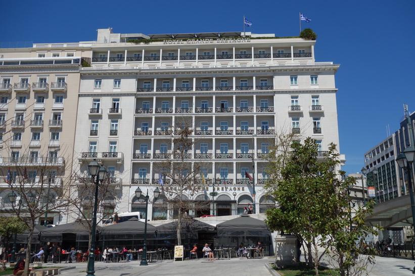 Anrika Hotel Grande Bretagne vid Syntagmatorget i centrala Aten.