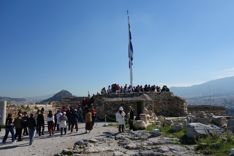 Uppe på Akropolis, Aten.