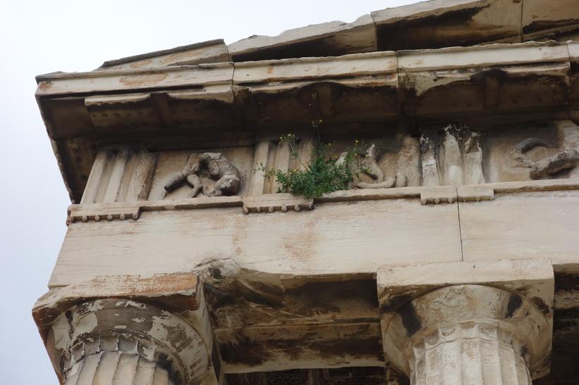 Hefaistotemplet, det bäst bevarade klassiska templet i Grekland, antika Agoran, Aten.