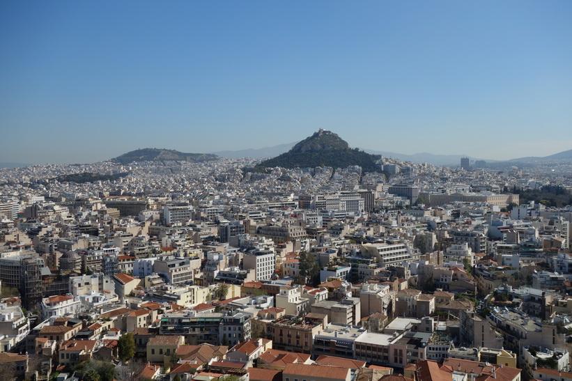 Utsikt över Aten från Akropolis.