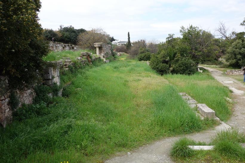Ruiner i den antika Agoran, Aten.