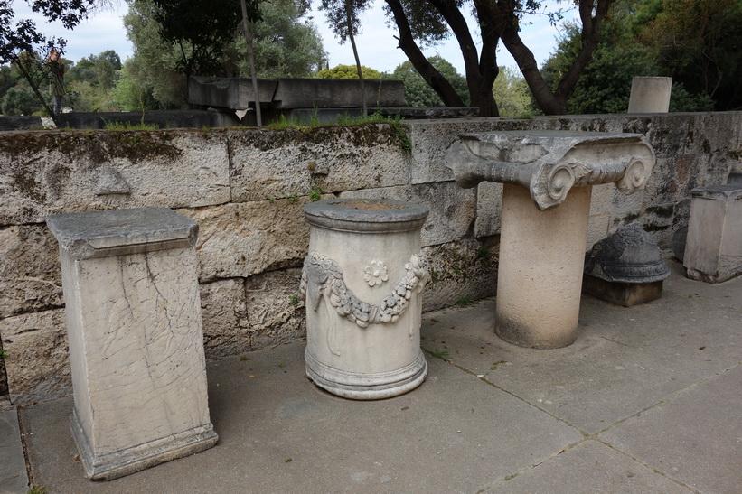 Utanför Attalos stoa, antika Agoran, Aten.