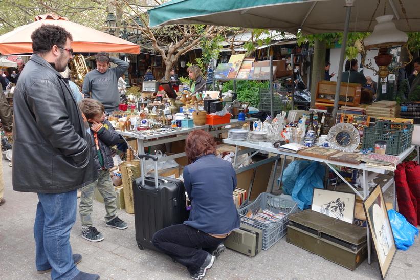 Marknad i centrala Aten.