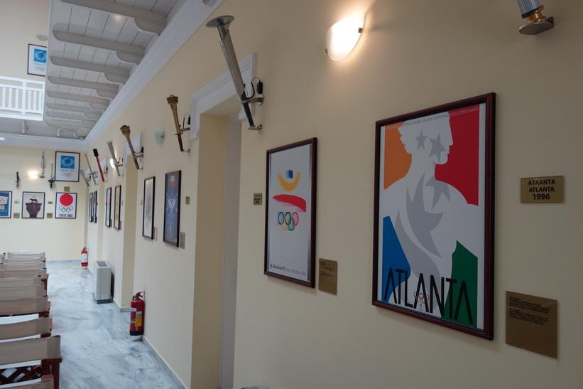 Museét under Kallimármarostadion, Aten.