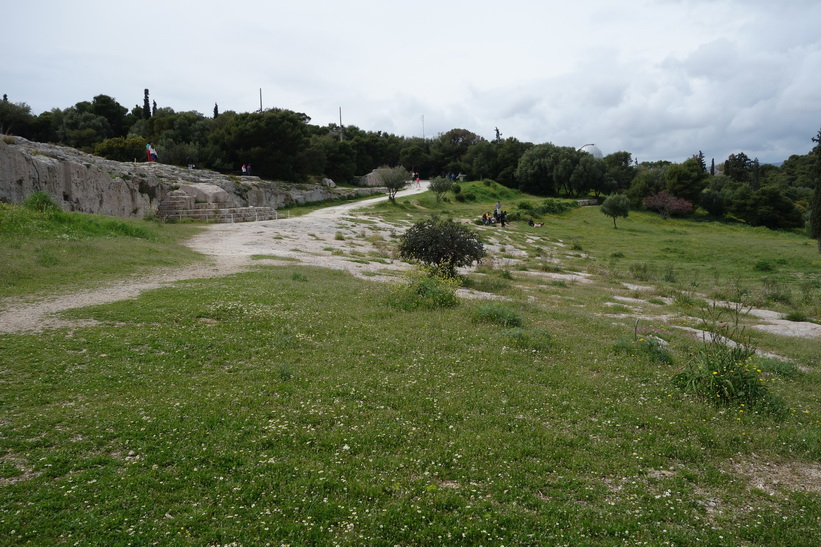 Pnyx, födelseplatsen för demokratin, Filopápposkullen, Aten.