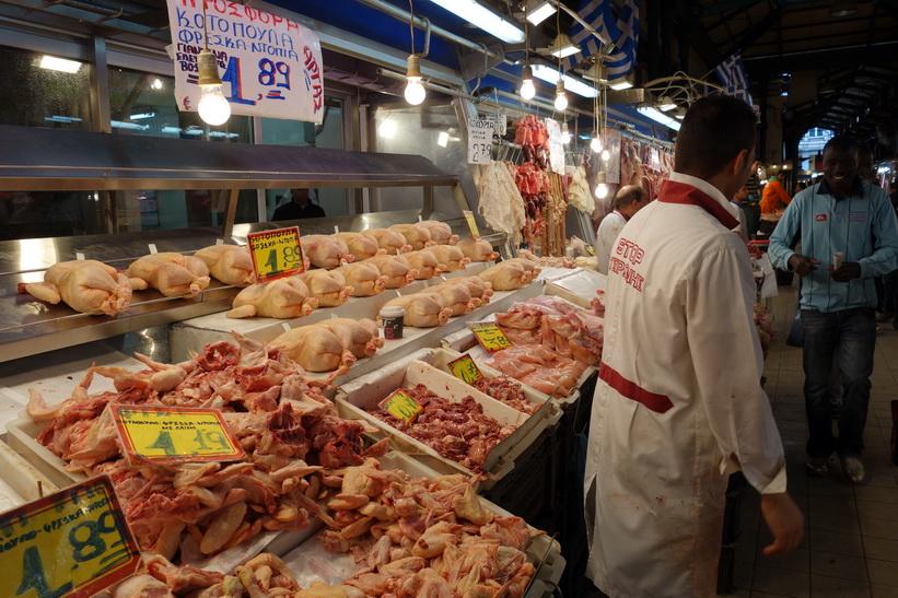 Centralmarknaden i Aten.