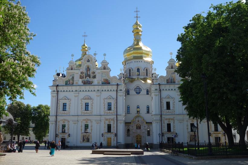 Rekonstruerade Marie avsomnandes katedral, Kievo-Petjerskaja lavra, Kyiv.