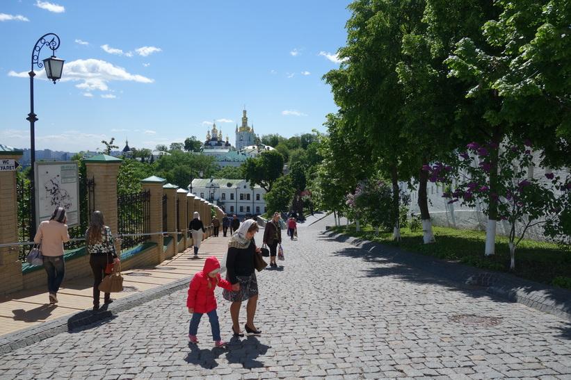 På promenad i Kievo-Petjerskaja lavra, Kyiv.