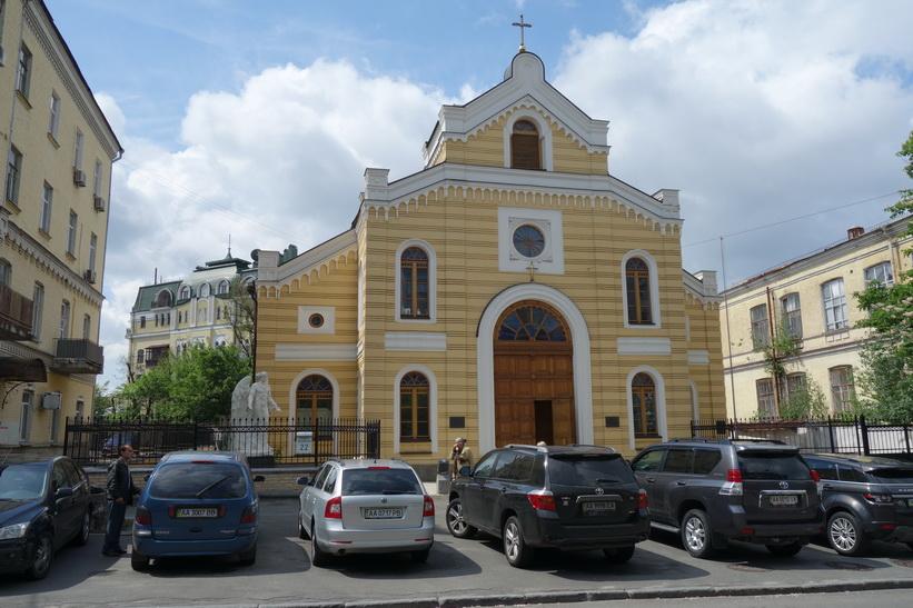 Ortodox kyrka i centrala Kyiv.