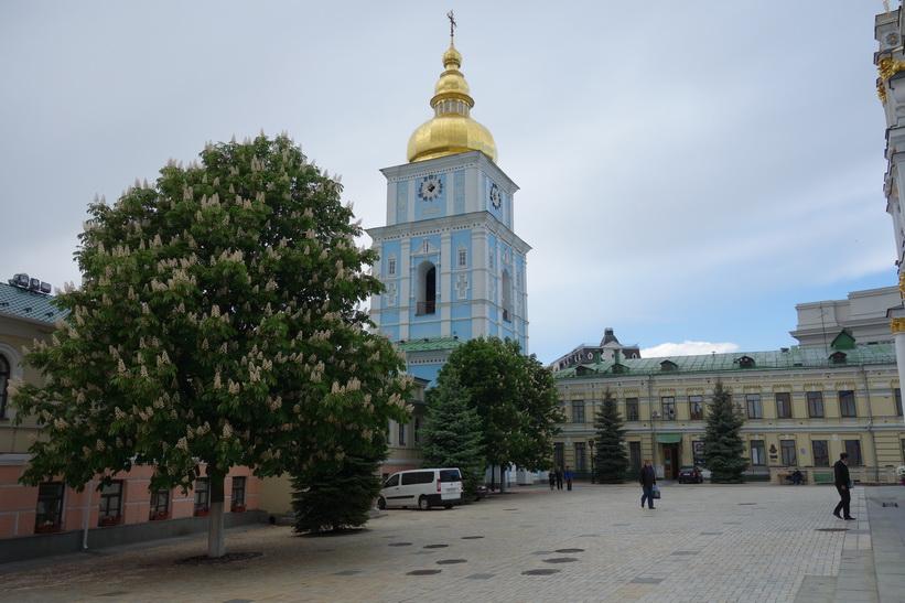 Klocktornet vid St. Mikaels katedral, Kyiv.