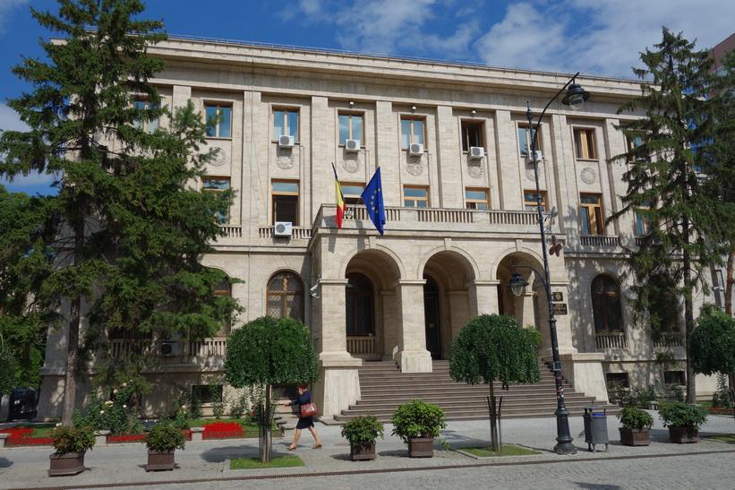 Byggnad längs Boulevard Stefan Cel Mare Si Sfant, Iași.