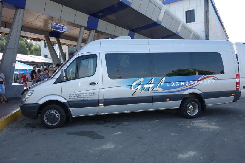 Mercedesbussen som jag åkte med mellan Odessa och Chișinău.