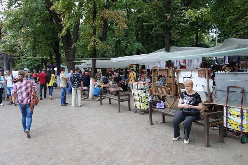 Gatuscen i centrala Chișinău.