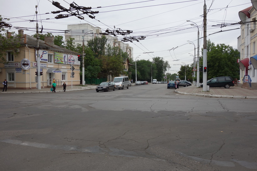 Gatuscen i centrala Tiraspol.