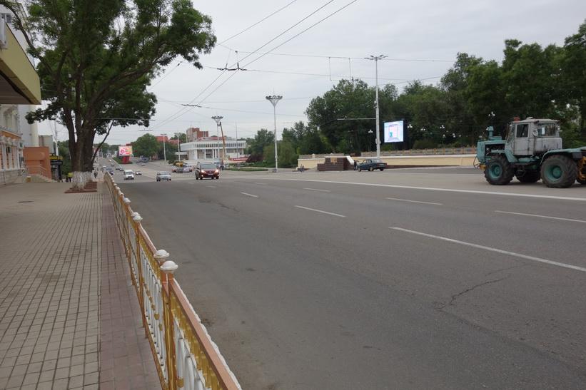 Strada 25 Octombrie i västlig riktning, Tiraspol.