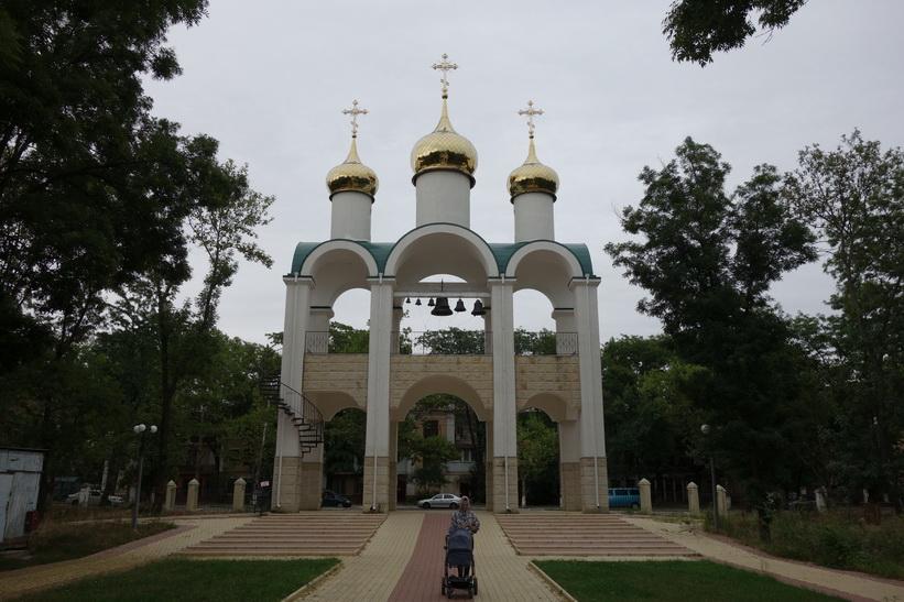 Kyrktorn i centrala Tiraspol.