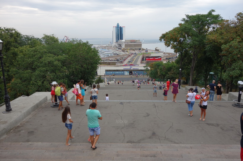 Den berömda Potemkin-trappan, Odessa.