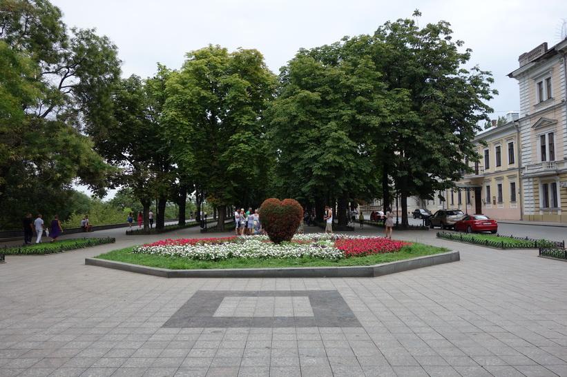 Ett hjärta i centrala Odessa.