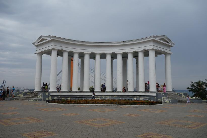 Medelhavsarkitektur i centrala Odessa.