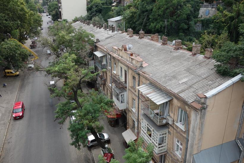 Förfallna hus i centrala Odessa.