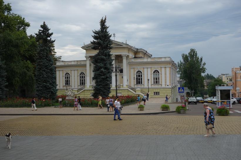 Fin arkitektur vid operahuset, Odessa.