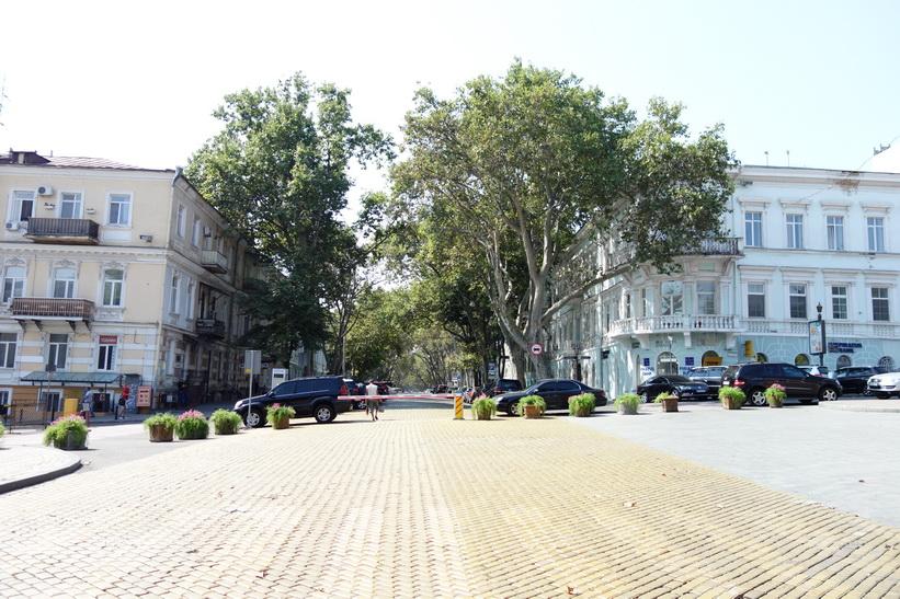 En vacker gata i centrala Odessa.