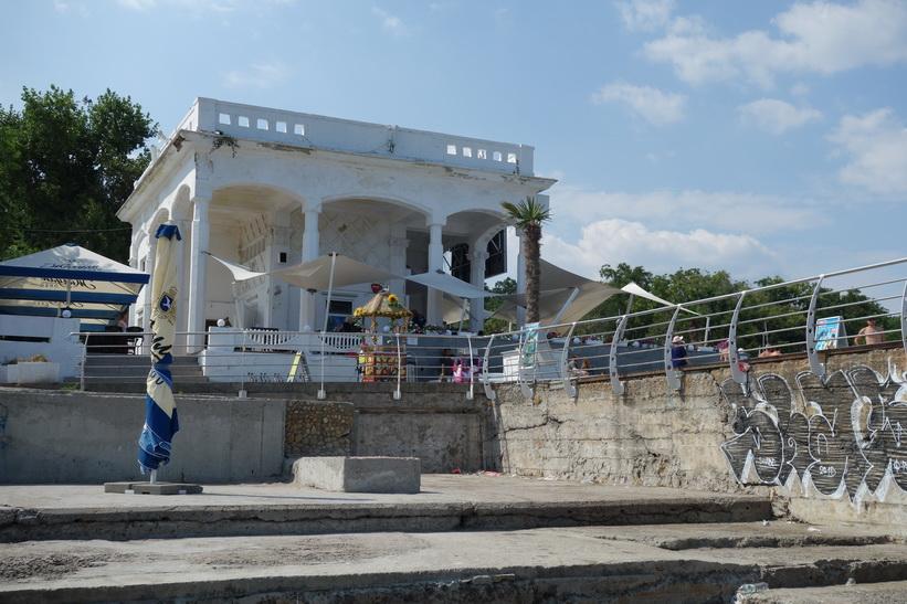 Min favoritrestaurang längs stranden i Odessa.