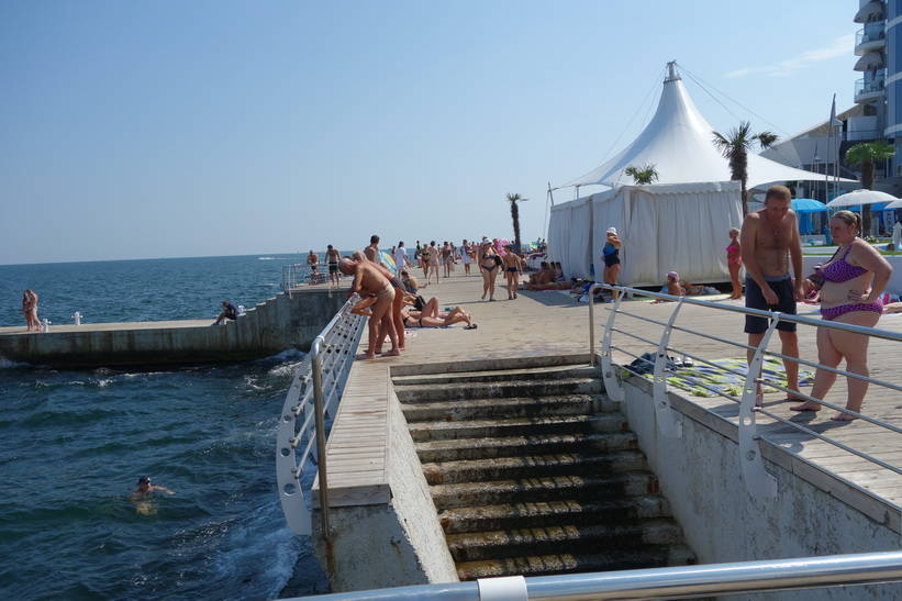 Stranden i Odessa.