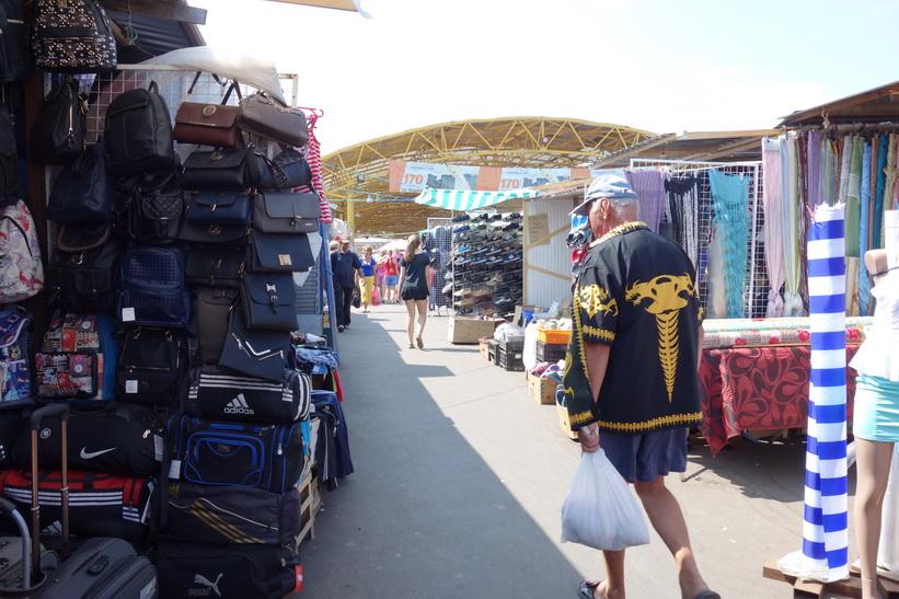 Privoz-marknaden i centrala Odessa.