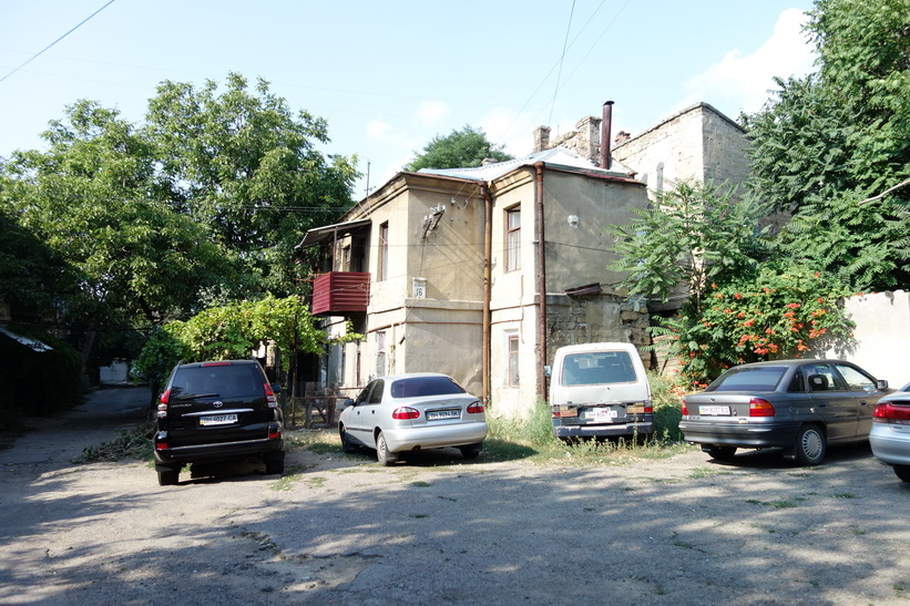 Gammalt hus i Odessa.