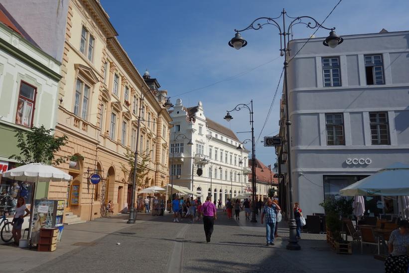 Gågatan Strada Nicolae Balcescu, Sibiu.