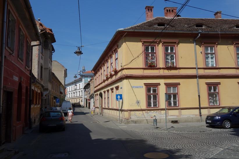 På rundvandring i centrala Sibiu.