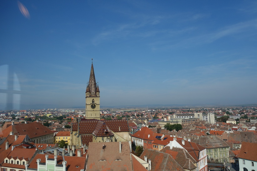 Vy uppifrån Council Tower, Sibiu.