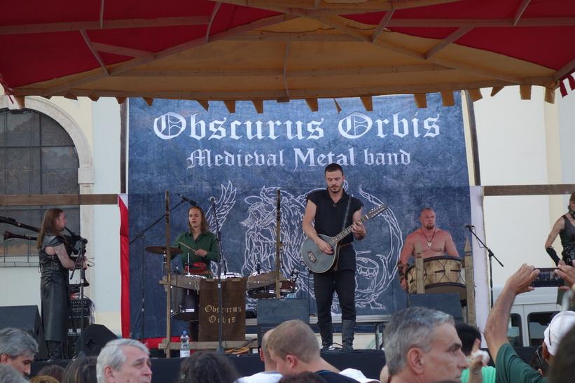 Obscurus Orbis från Lettland på Medieval Featival 2015, Sibiu.