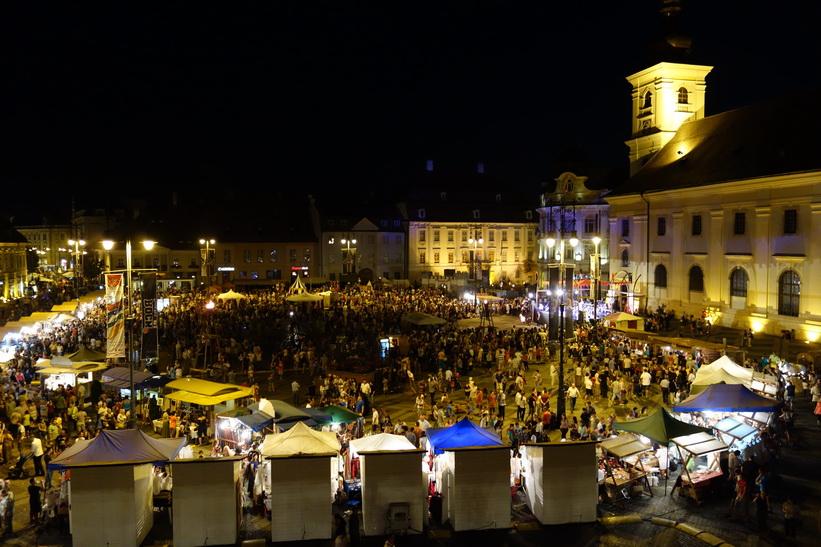 Piața Mare, Medieval Featival 2015, Sibiu.