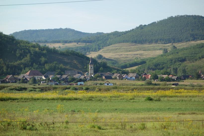 Tågresan mellan Sighișoara och Sibiu.3