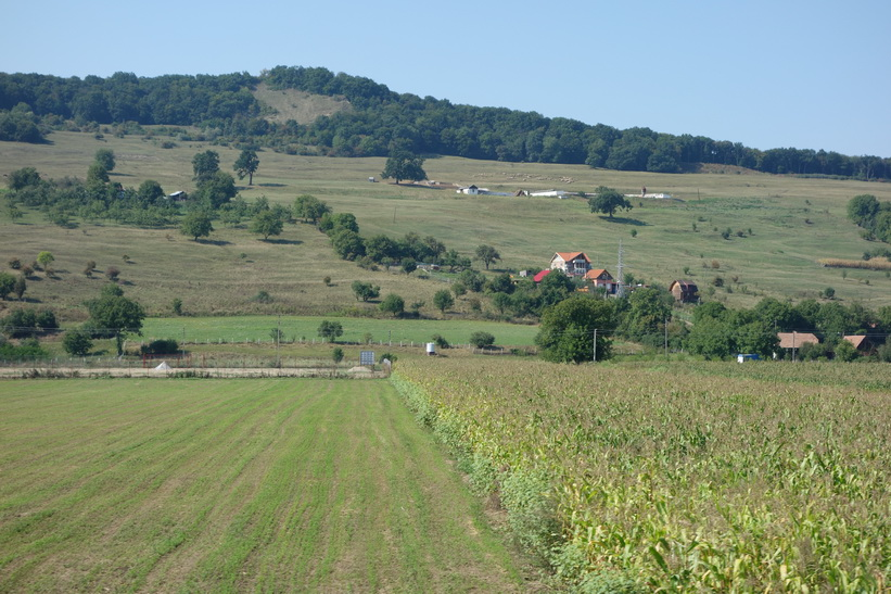 Tågresan mellan Sighișoara och Sibiu.