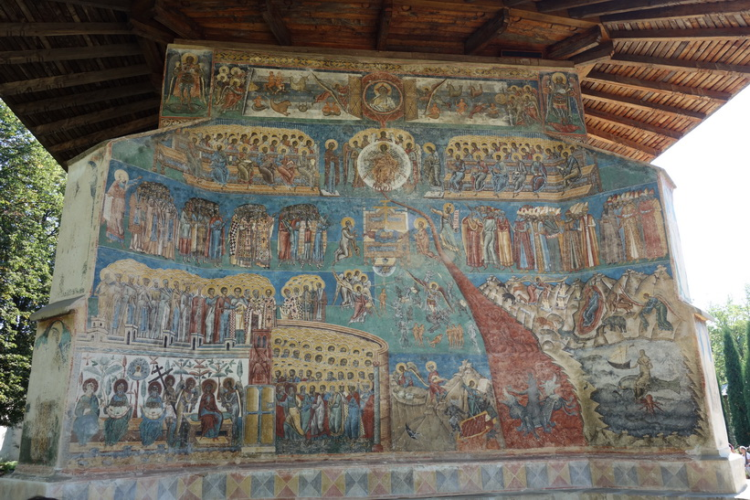 Voronet monastery.