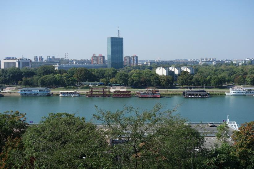 Utsikt över floden Sava från fortet i Belgrad.