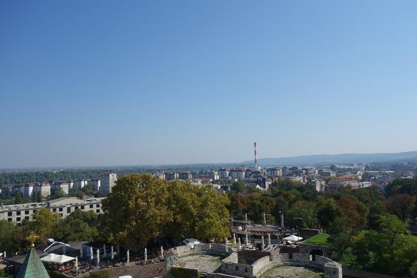 Utsikt över delar av centrala Belgrad från fortet.