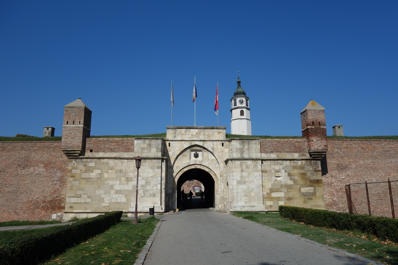En av entréerna till fortet i Belgrad.
