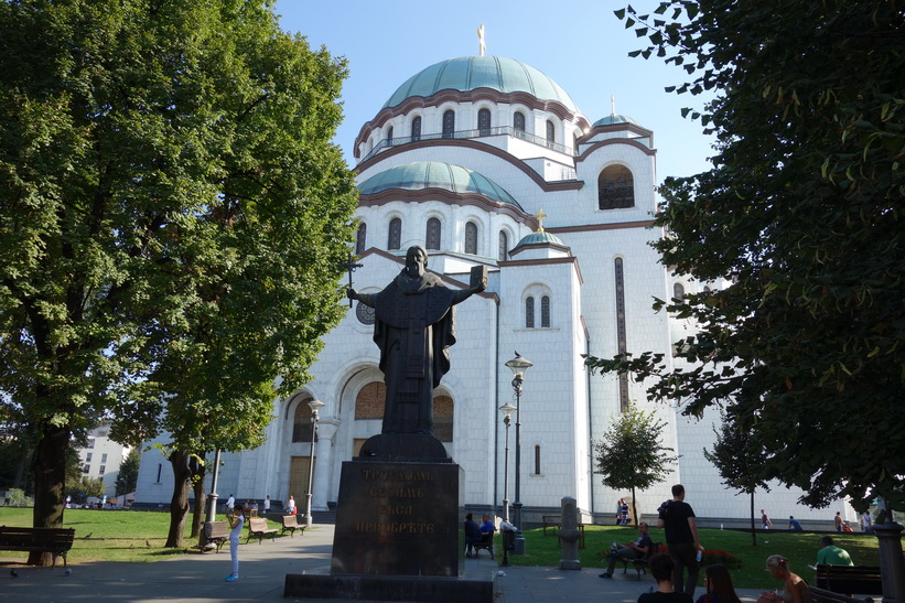 Sankt Savas tempel, världens största ortodoxa kyrka, Belgrad.