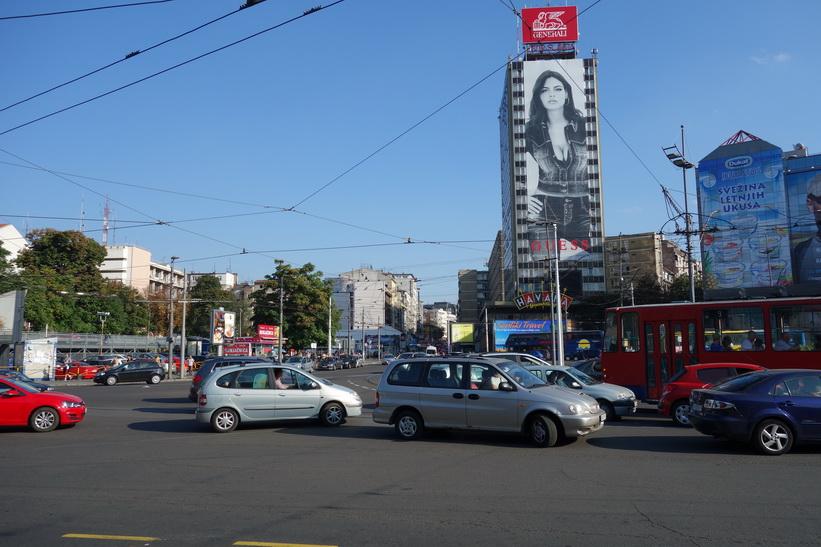 En av dom största och mest förvirrande rondeller jag sett, Belgrad.