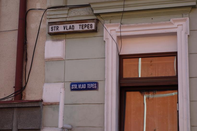 Strada Vlad Tepes i Brașov.