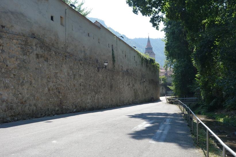 Del av ringmuren runt Brașov.