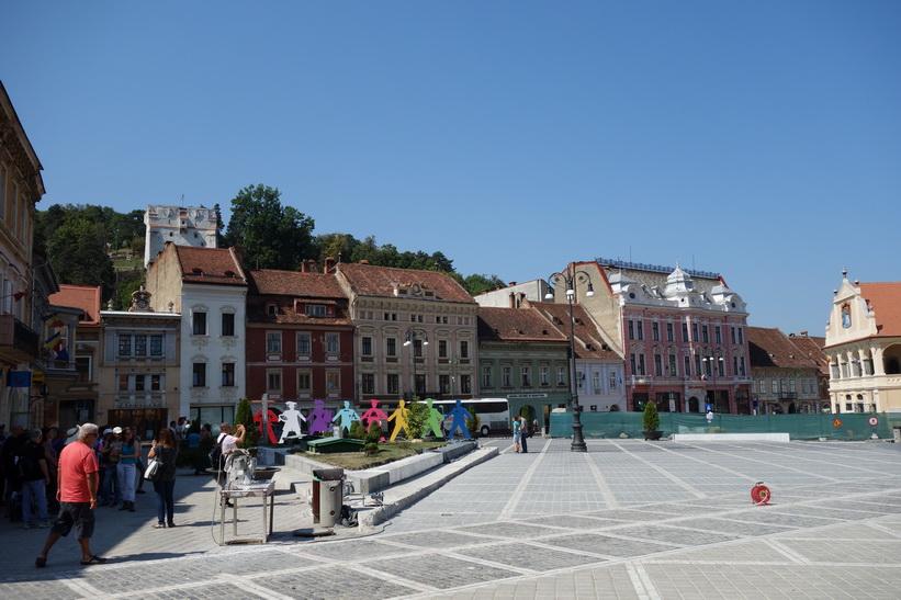 Centrala torget Piața Sfatului, Brașov.