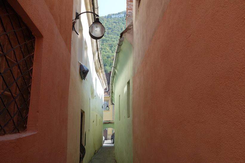Strada Sforii, europas smalaste gata, Brașov.